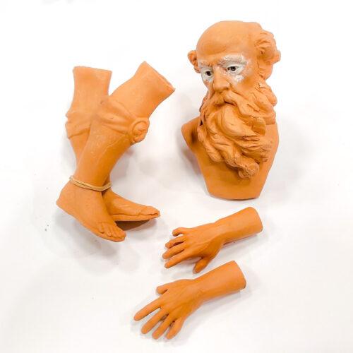 Teste mani e piedi in Terracotta